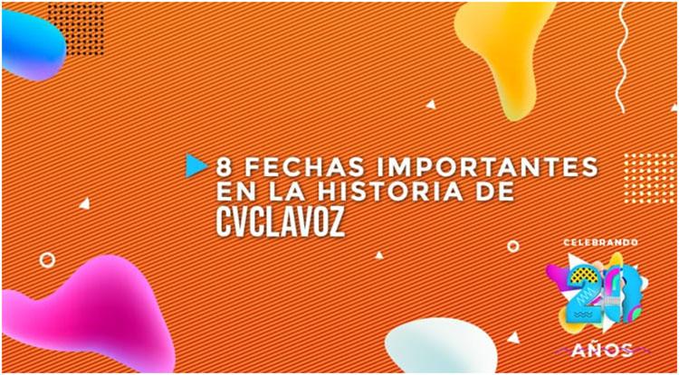 8 Fechas importantes en la historia De CVCLAVOZ 2