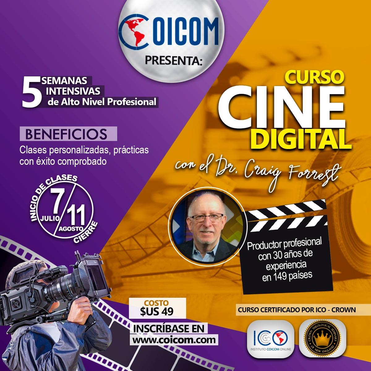 COICOM Y CROWN SEMINARY DIERON INICIO AL CURSO CINE DIGITAL CON CRAIG FORREST COMO FACILITADOR 2