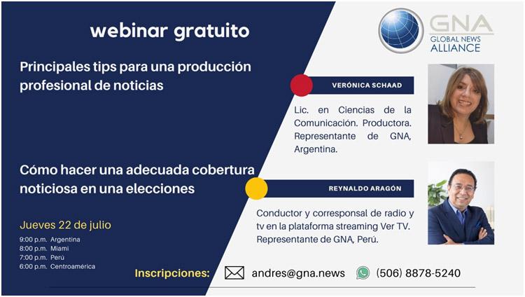 Webinar gratuito enseñará tips de producción y consejos para coberturas electorales 3