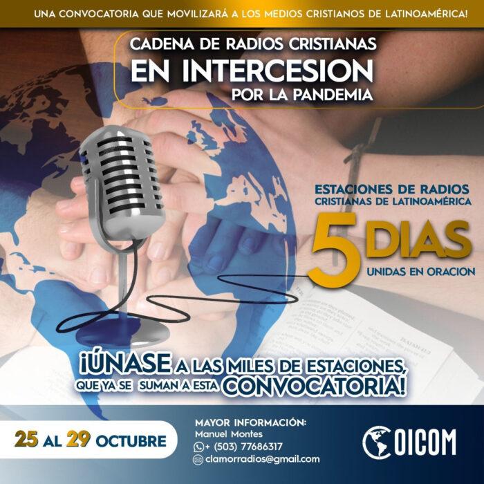Convocatoria para medios cristianos: Unidos en Oración e Intercesión 2